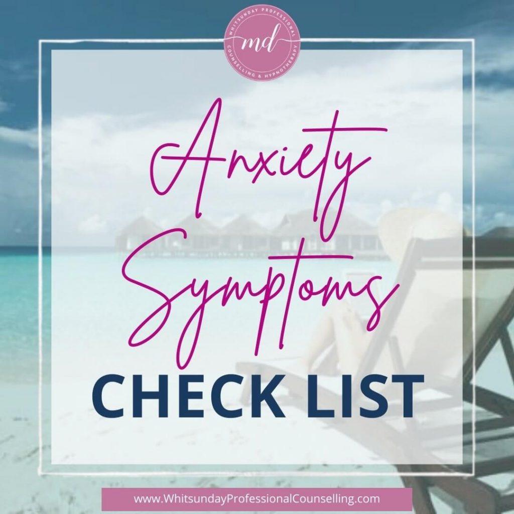 Anxiety Symptoms Check List